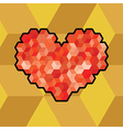 Abstract heart symbol created from cubes vector image vector image