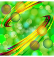 Abstract light bubbles background with bent lines vector image vector image