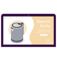 banner electric kettle in isometric view vector image