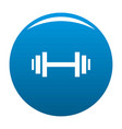 barbell icon blue vector image