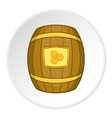 Barrel with honey icon cartoon style vector image vector image