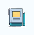 book business education notebook school flat icon vector image