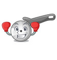 boxing pizza cutter knife cartoon for cutting vector image vector image