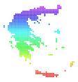 bright dot greece map vector image vector image