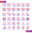 browser and interface gradient icons set vector image vector image