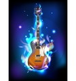 Burning guitar vector image