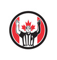 canadian football referee canada flag icon vector image vector image