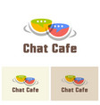 chat cafe isolated colorful logo template vector image