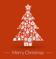 Christmas greeting card icons and symbols vector image