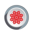 Christmas paper snowflake origami icon Red sign vector image vector image