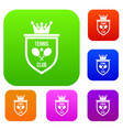 Coat of arms of tennis club set collection
