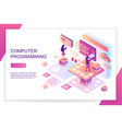 computer software programming coding front end vector image