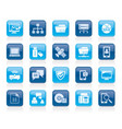 connection communication and network icons vector image vector image