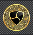 crypto currency nem golden symbol vector image vector image