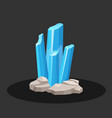 crystals of blue aquamarine stone vector image
