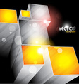 cubes shapes design vector image vector image