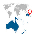 detailed map of australia oceania and world map vector image