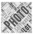 digital photography software Word Cloud Concept vector image vector image