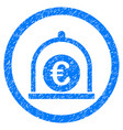 euro standard rounded grainy icon vector image
