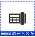 fax icon flat vector image vector image