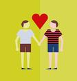 gay love vector image