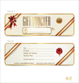 Gift voucher front and back design vector image vector image