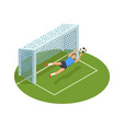 goalkeeper save isometric composition vector image vector image