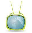 green retro tv set vector image vector image
