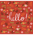 Hello card design vector image