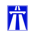 highway signs traffic blue vector image vector image