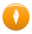 ice cream icon orange vector image