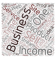 Income Streams You Can Add to Your Business And vector image vector image