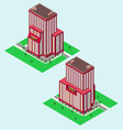 isometric hotel vector image vector image