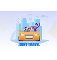 joint travel service carpool concept vector image vector image