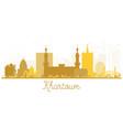 khartoum city skyline golden silhouette vector image vector image