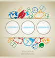 learning infographic concept vector image