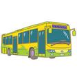 low-floor city bus vector image