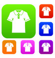 men polo shirt set color collection vector image vector image