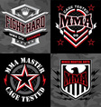 MMA mixed martial arts emblem badges vector image vector image