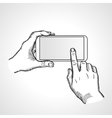 Mobile phone touch gestures vector image