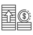 money grow up icon outline style vector image
