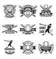monochrome labels or emblem for baseball club vector image