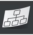 Monochrome scheme sticker vector image vector image