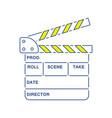 movie clap board icon vector image vector image