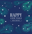 new year and christmas banner with fir vector image vector image