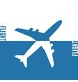 plane icon solid concept vector image vector image