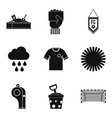 playful icons set simple style vector image vector image