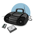 portable tape recorder with cd player vector image vector image