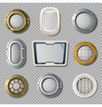 Portholes Of Various Shape Realistic Set vector image