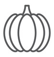 pumpkin line icon vegetable and vitamin vector image vector image